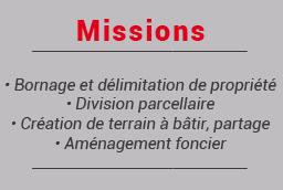 Missions bornage et délimitation de propriété